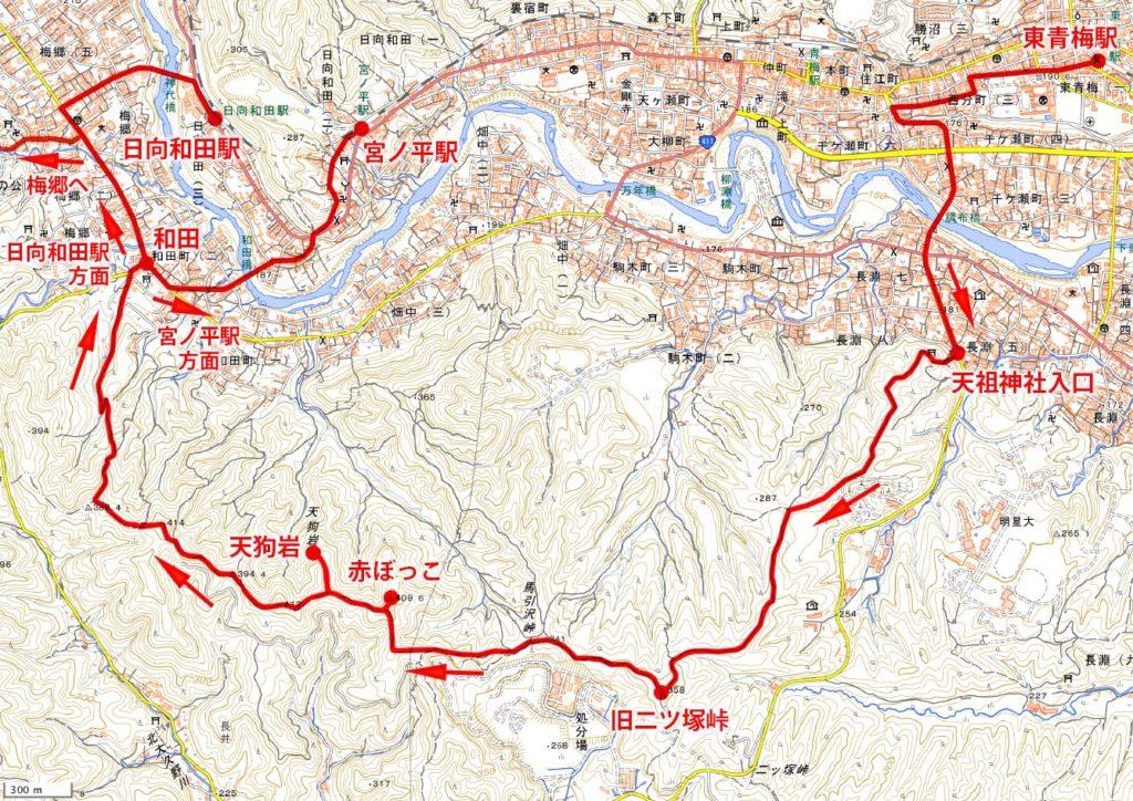 長渕山ハイキングコース・ハイキングマップ