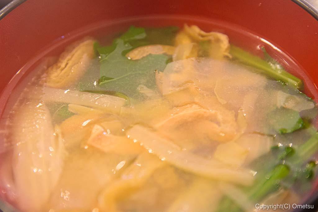 武蔵五日市「とんとん」の味噌汁