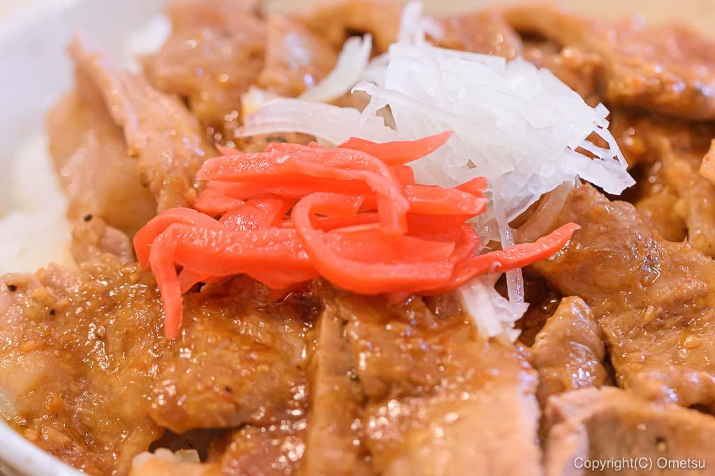 武蔵五日市「とんとん」の豚丼、紅生姜