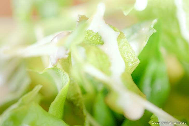 青梅市・内沼きのこ園の喫茶室「ぴるつ」の、サラダ菜