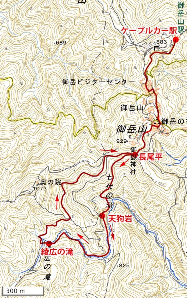 御岳山・ハイキングマップ
