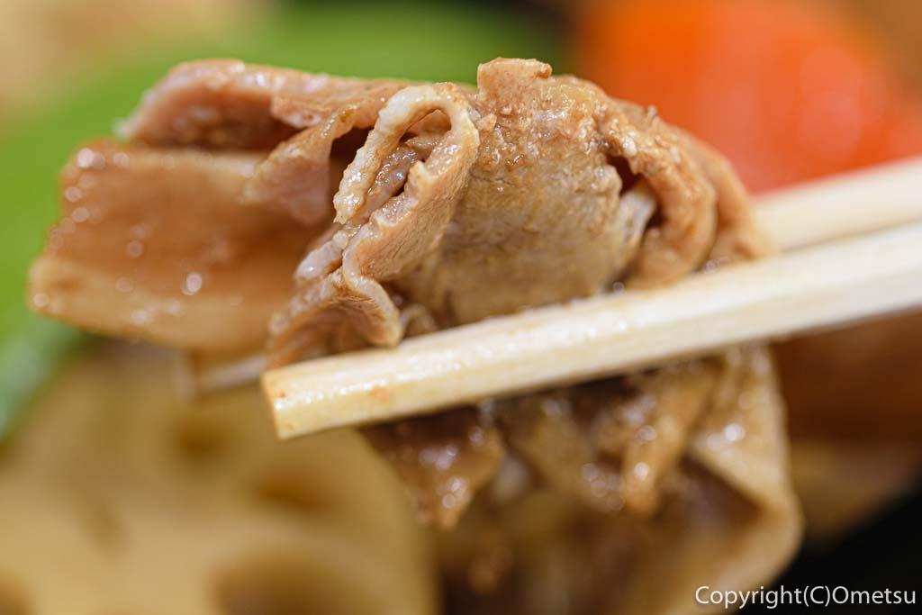 青梅市役所・煮物弁当の肉