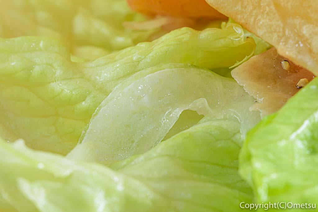 青梅・河辺の、うさぽんCAFEの、サーモンチーズサンドの野菜