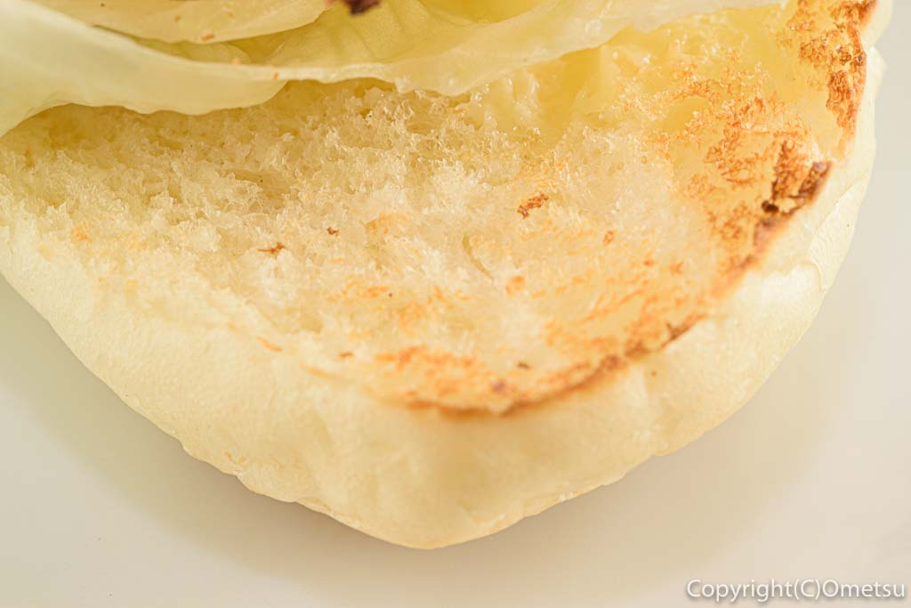 青梅・河辺の、うさぽんCAFEの、サーモンチーズサンドのパン
