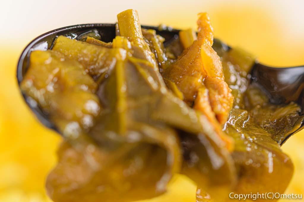 東青梅のカフェ、CafePasearのカレーの、のらぼう菜
