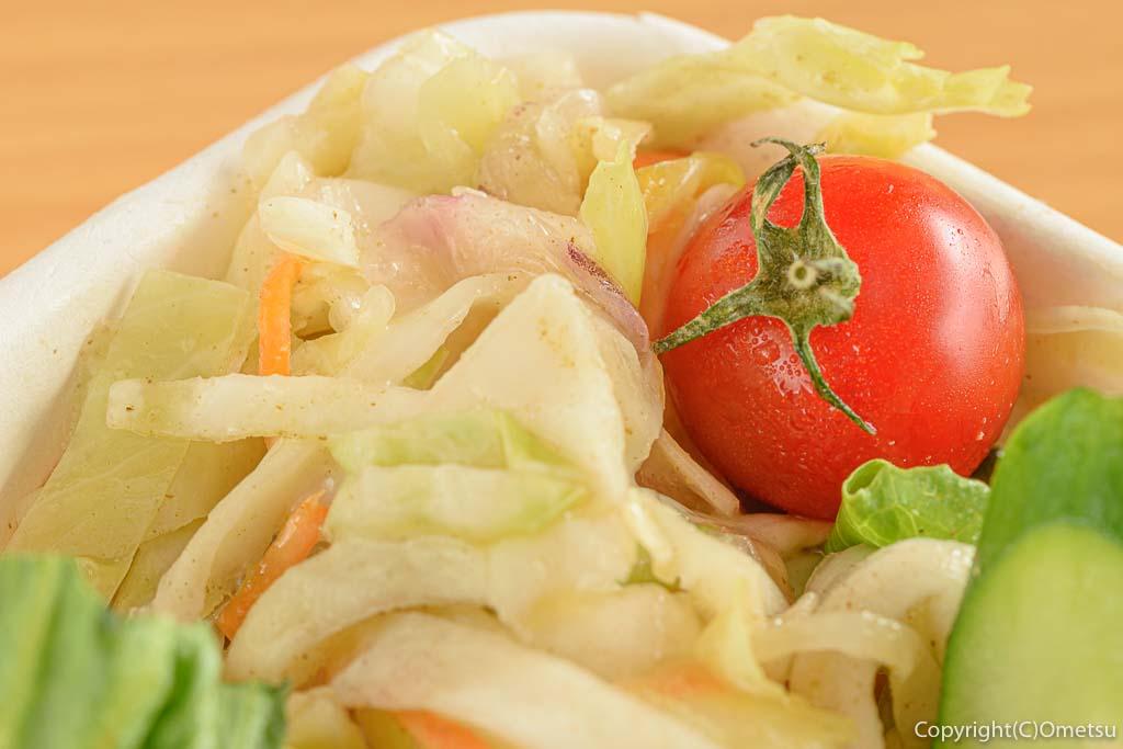 小作「世界一のミートボール」のハンバーグ弁当の野菜