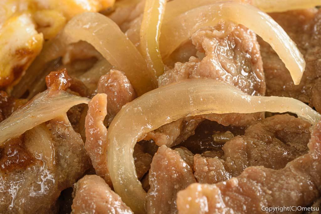 東青梅の洋食店beeの日替わり弁当の生姜焼き