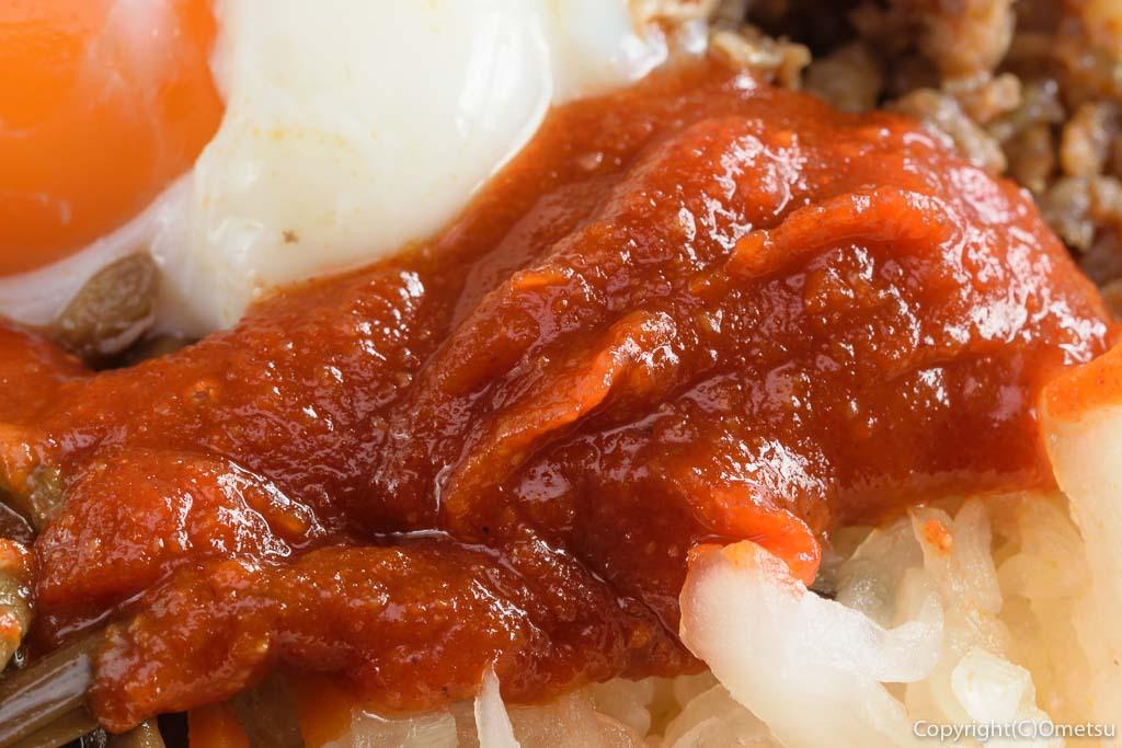 青梅・小作の焼肉店、いのうえのビビbンバ丼のコチュジャン