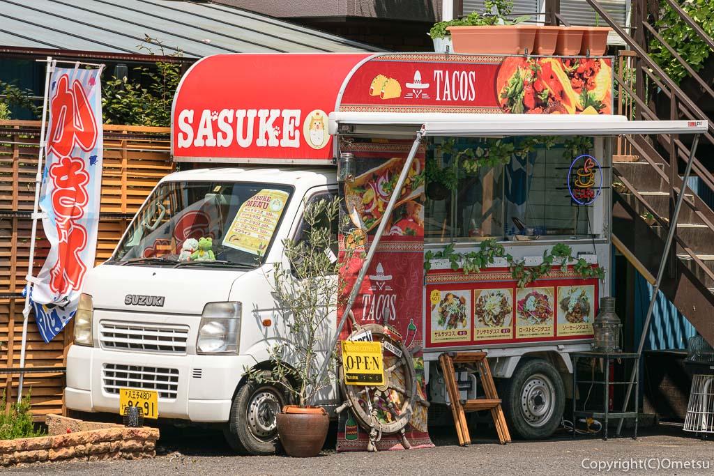 青梅・新町のキッチンカー、タコス屋SASUKE