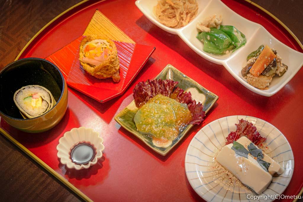 青梅の蕎麦店、静蕎庵の惣菜