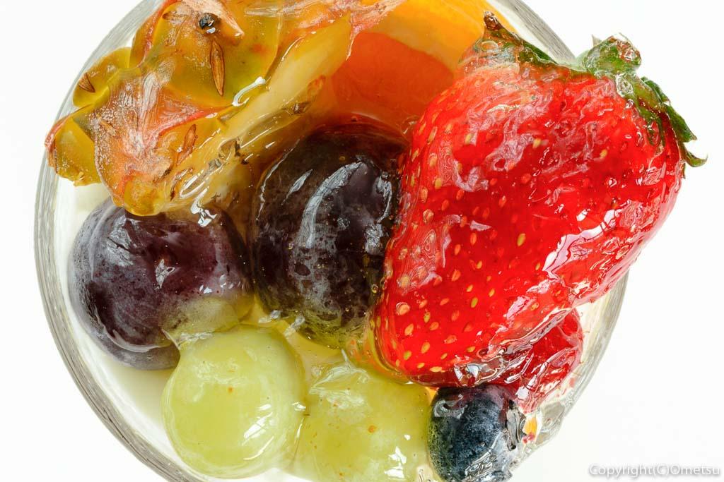 青梅のケーキ店、パティスリー シャロンの、フルーツたくさんプリン