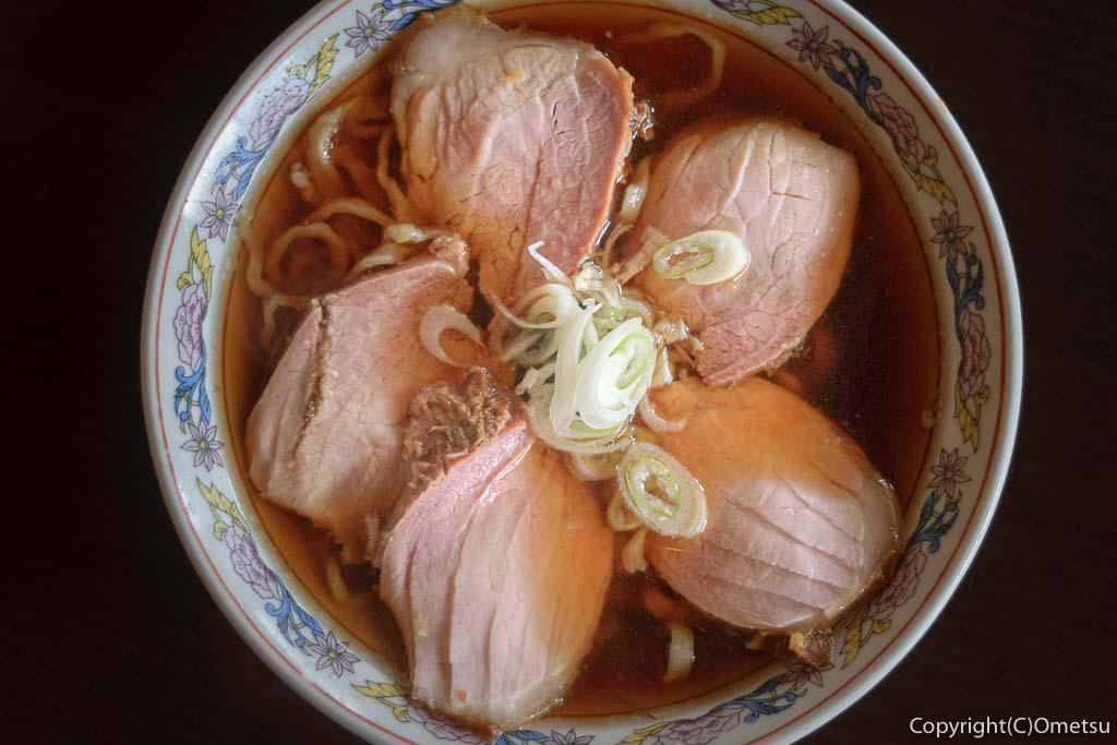 青梅のラーメン店・三玉屋のチャシウメン