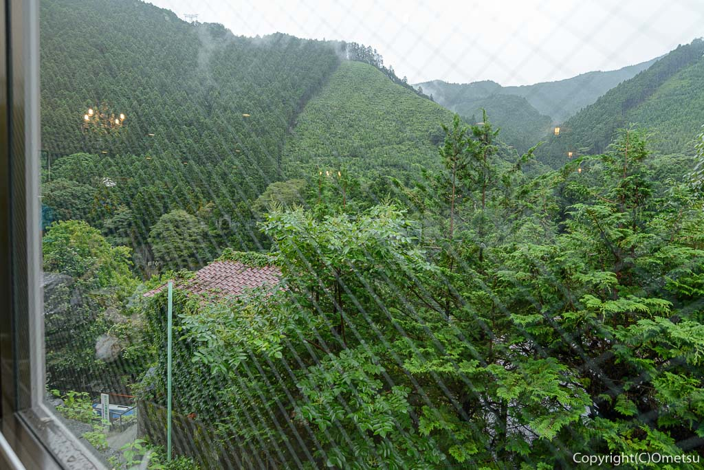 青梅市御岳のカフェ、ミタケテラスからの展望
