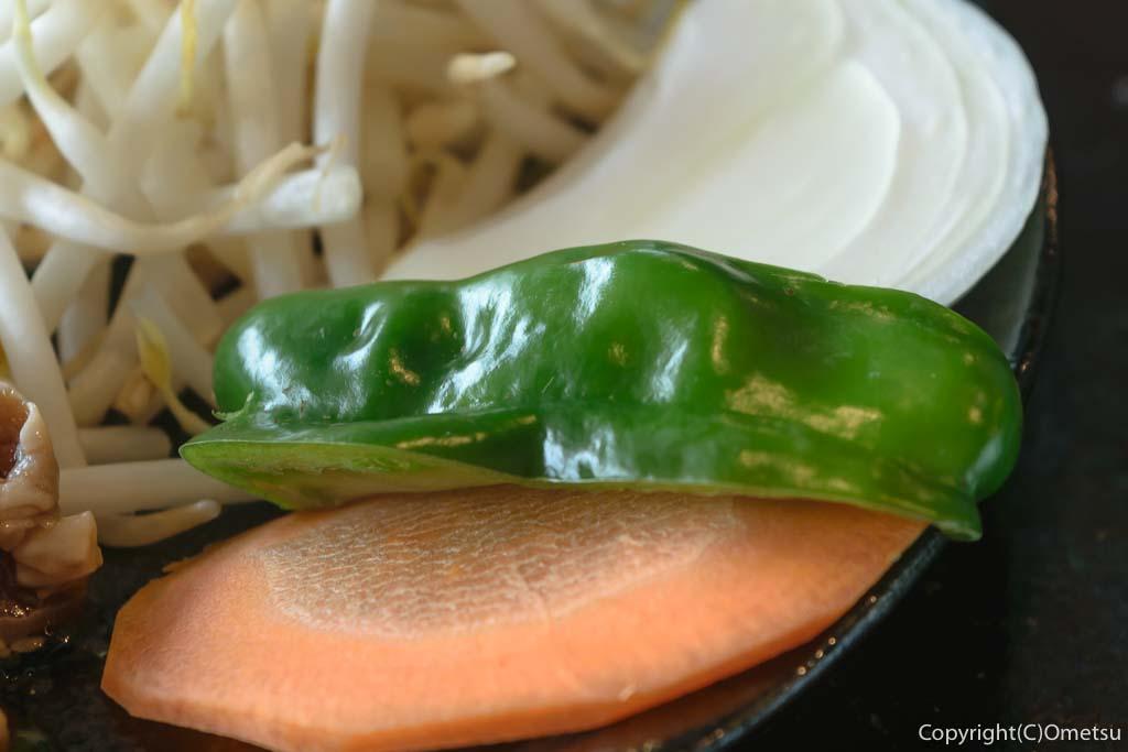 青梅のジンギスカン七福の、野菜