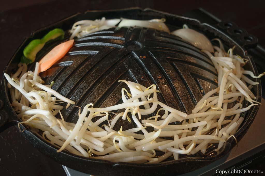 青梅のジンギスカン七福の、上ラム・マトンセットの野菜