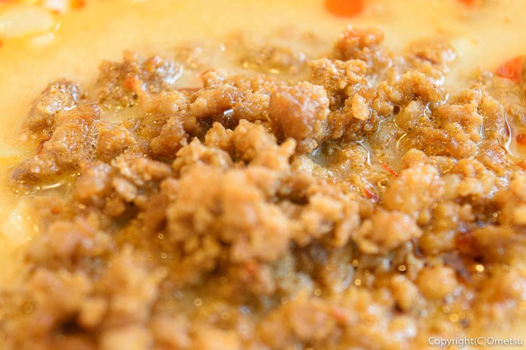 青梅の中華料理店、天龍の担々麺のひき肉