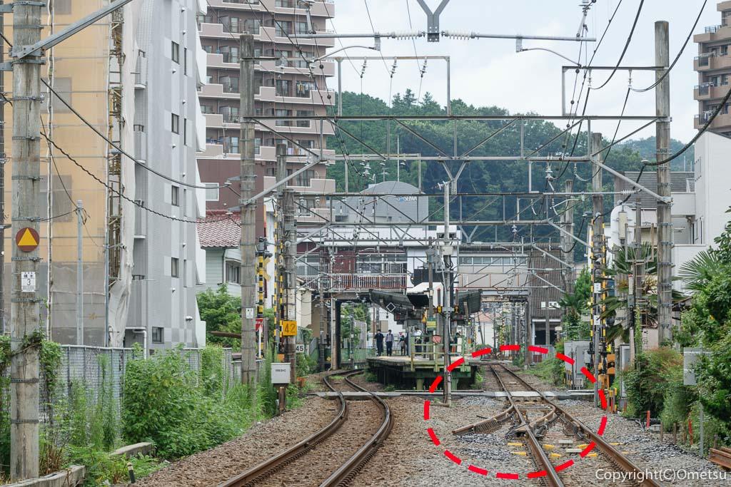 東青梅駅、12両化ポイント工事