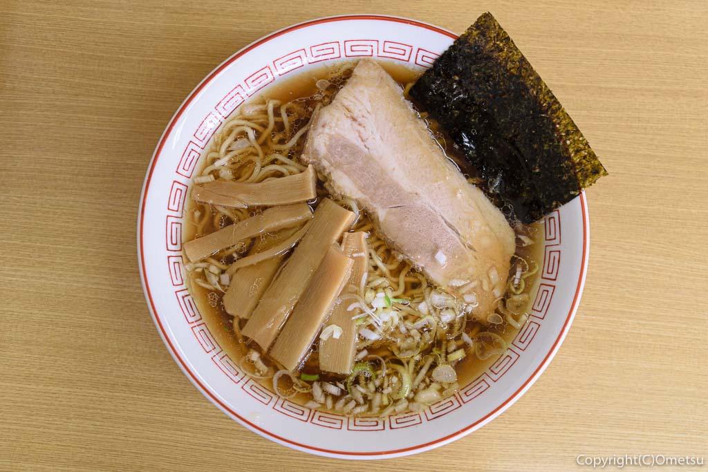 東青梅のラーメン店・福助のラーメン
