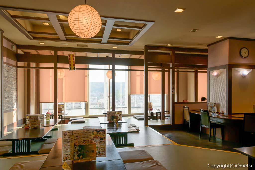 青梅市・河辺の温泉「松の湯」内のお食事処「梅寿庵」