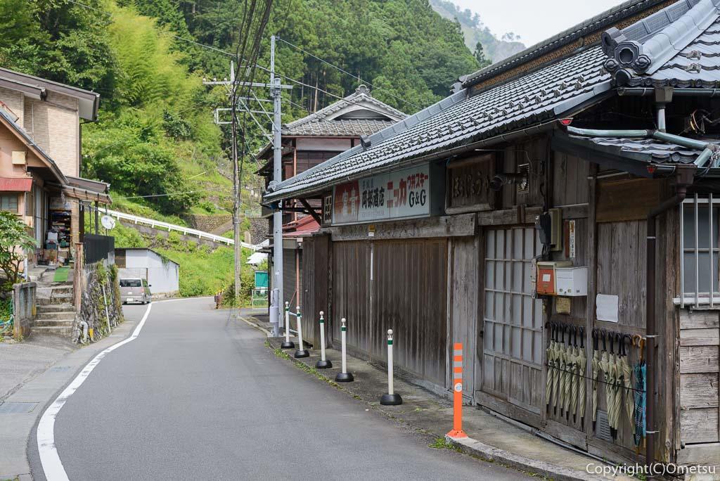 東京都・奥多摩町、日原の集落
