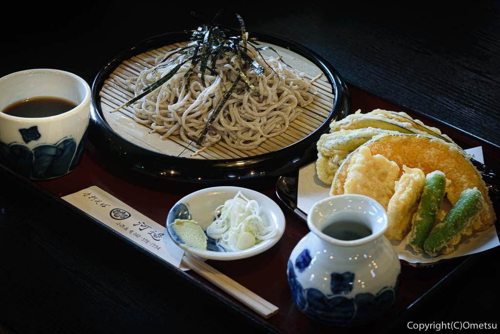 羽村市・羽西の蕎麦店、河邊のざる蕎麦と天ぷら