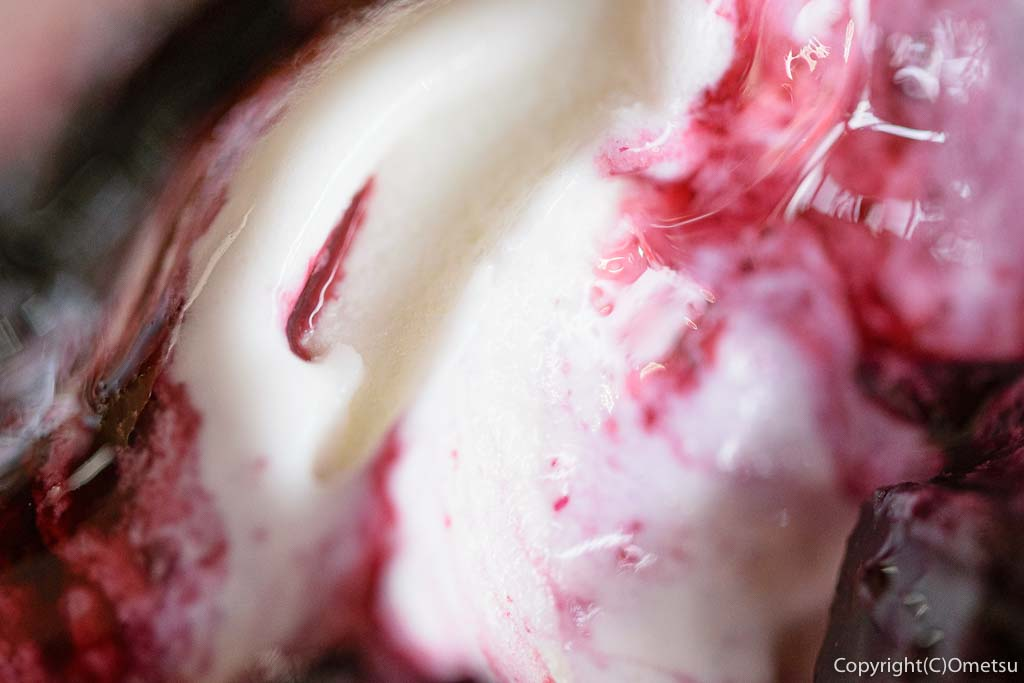 福嶋牧場の、ブルーベリーソフトクリーム