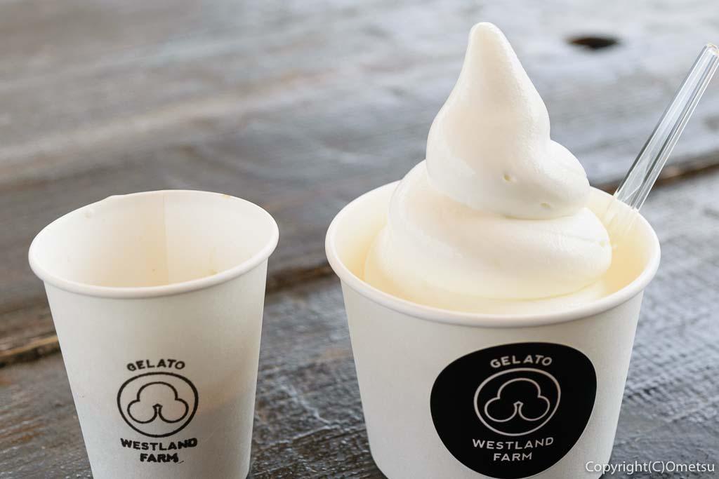 東京都・瑞穂町の、清水牧場・WEASTLAND FARMのソフトクリーム・アフォガート