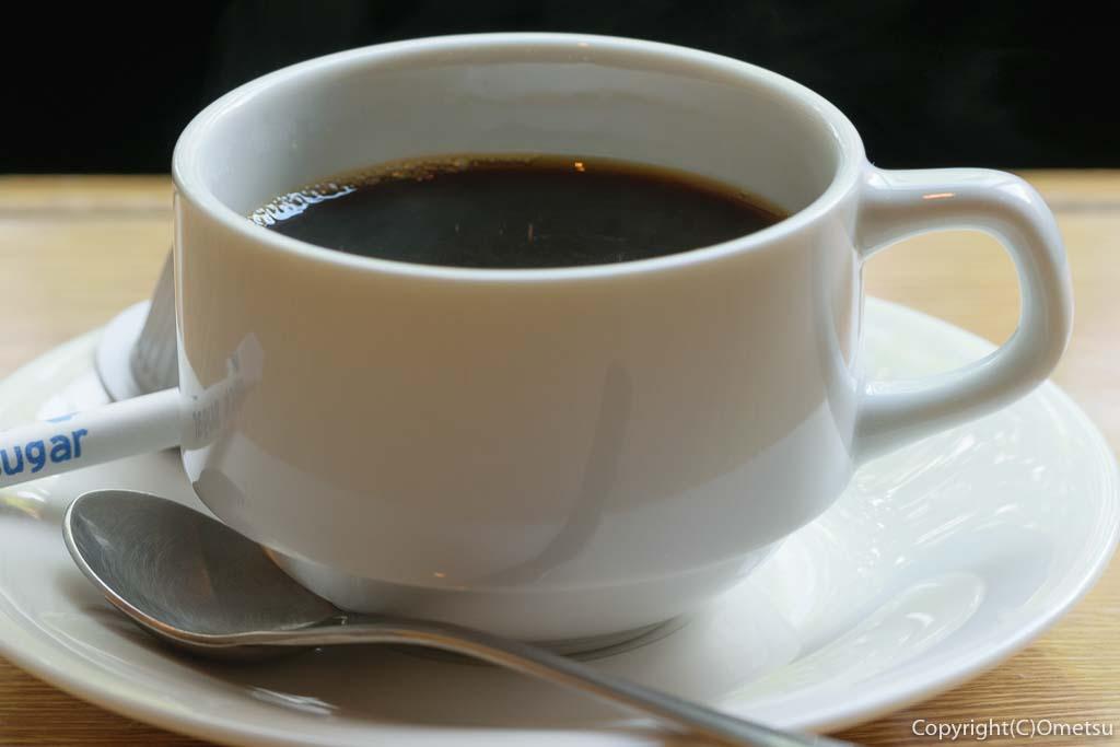青梅市・河辺の、ビストロ今の、サーモンの味噌焼き定食のコーヒー