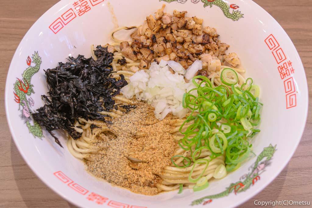 羽村市のラーメン店、煮干乃宴の、和え玉