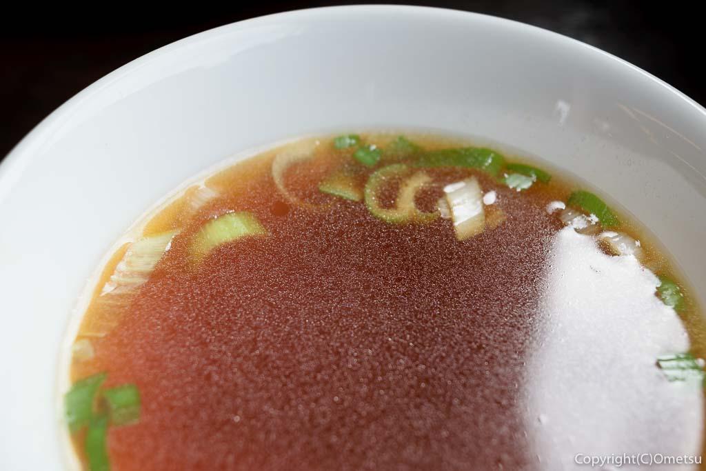 満北亭・瑞穂店の餃子定食のスープ