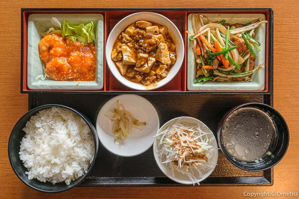 羽村市の中華料理店、遊遊天山の、日替わりランチ