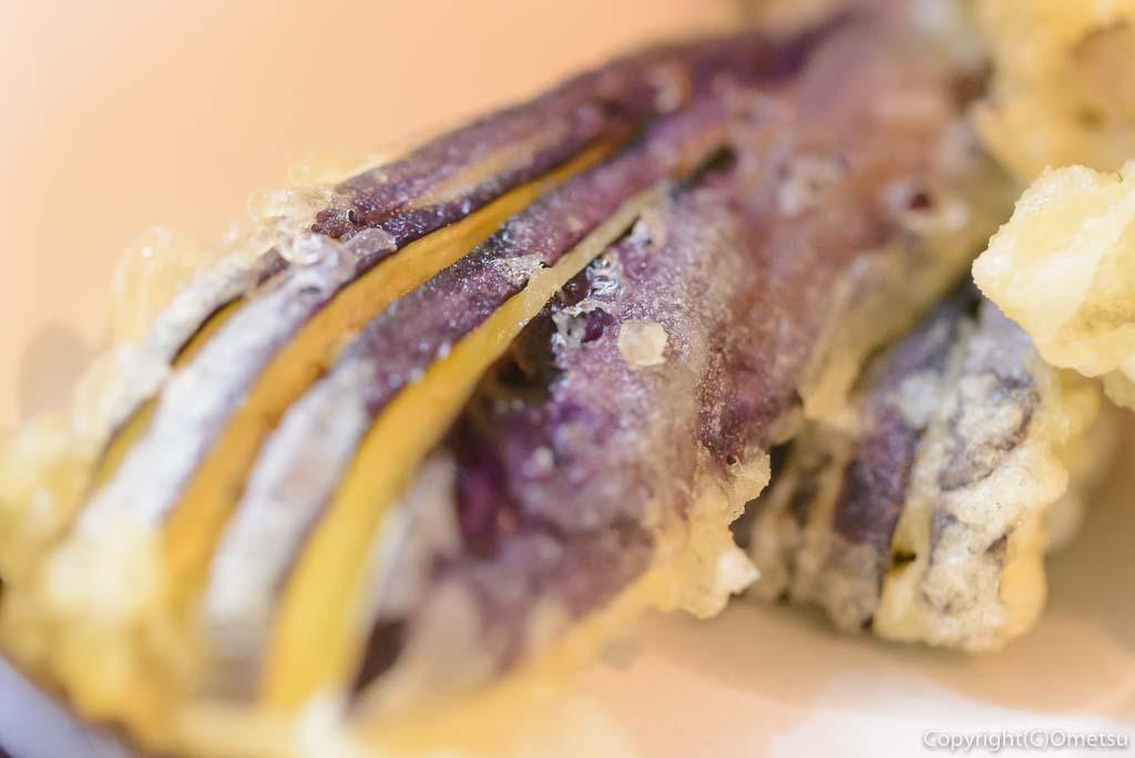 青梅市・柚木の「そばと茸の里 じゃもの」の、野菜天ぷら