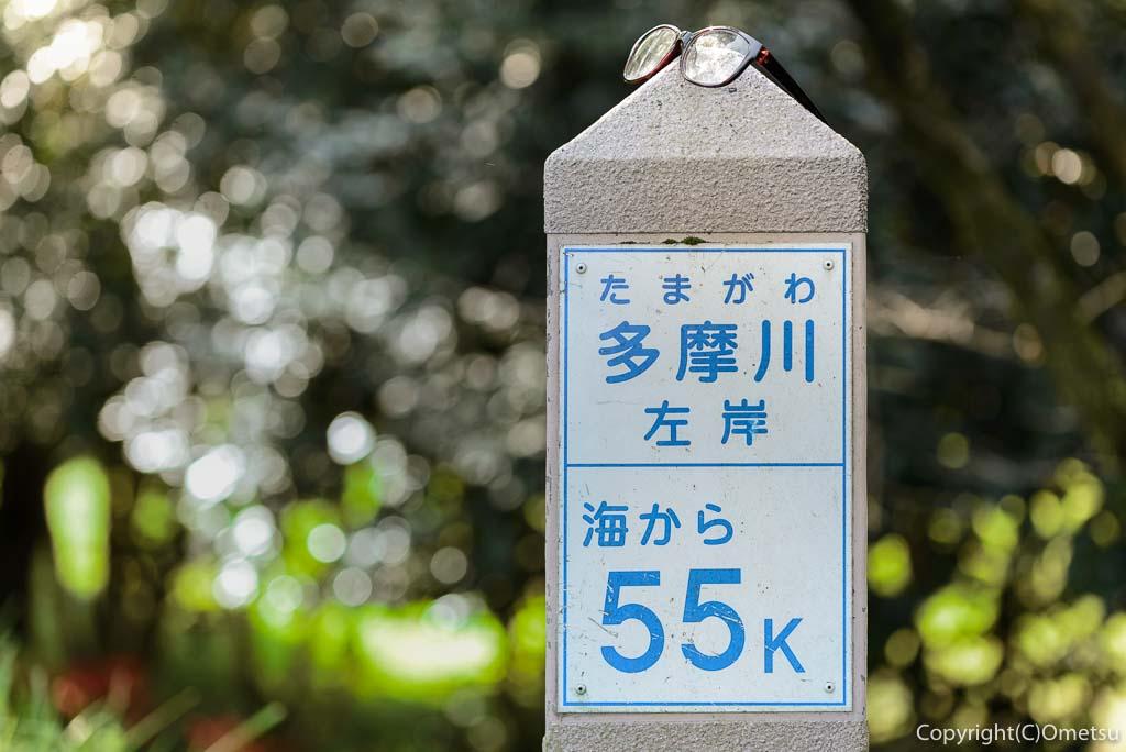 羽村市、武蔵阿蘇神社・参道近くの、河川標識