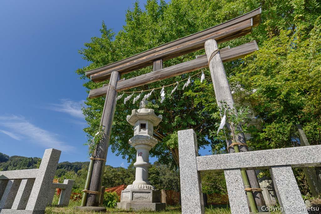 羽村市、武蔵阿蘇神社参道入口