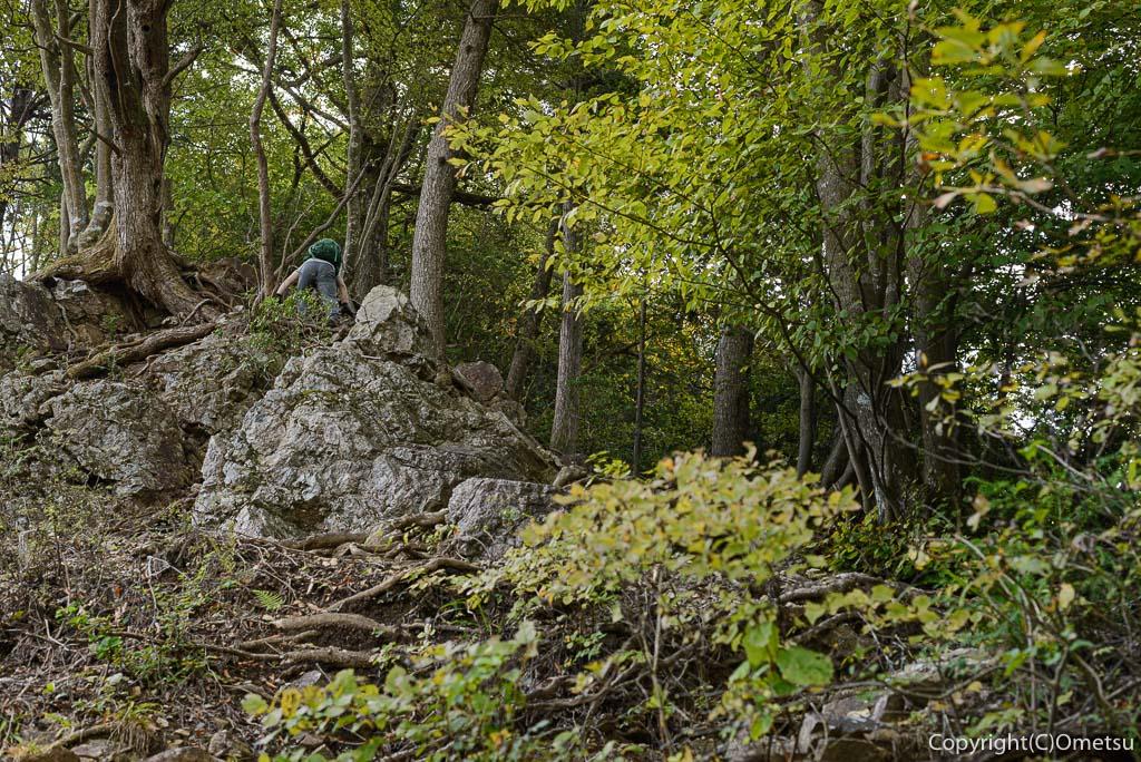 高水三山の岩場
