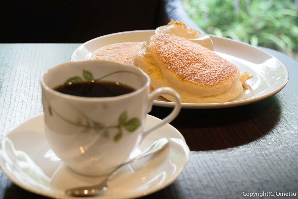 高倉町珈琲の、モーニングリコッタパンケーキ