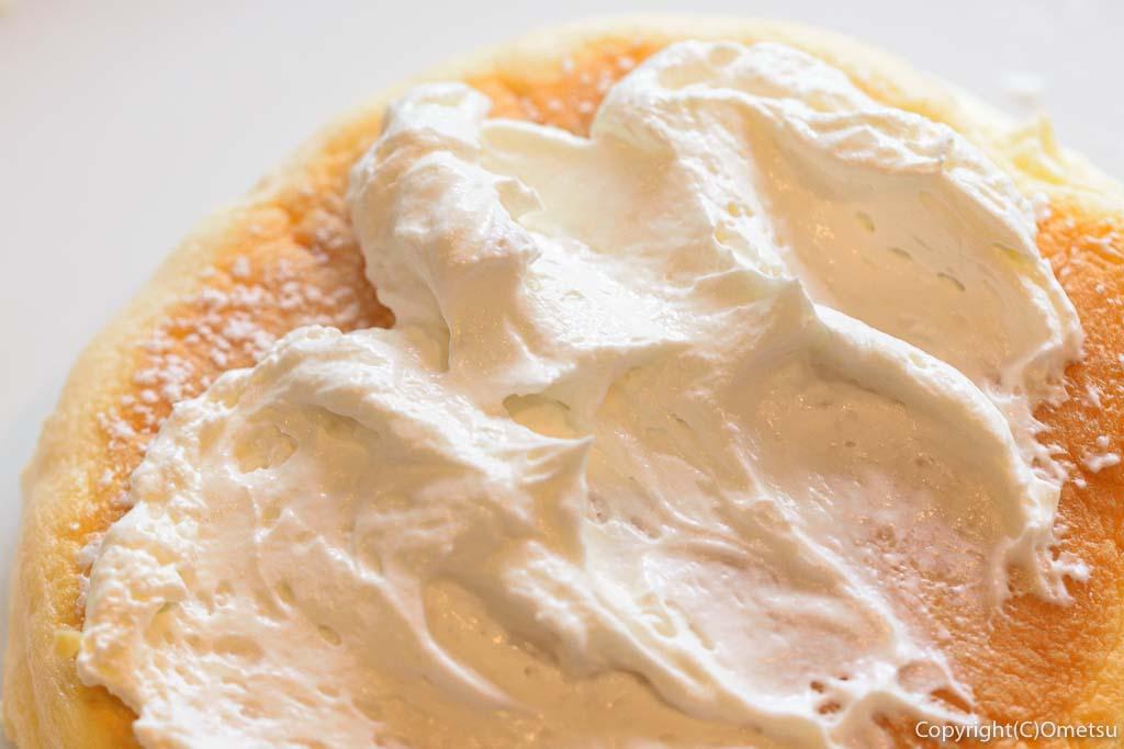 高倉町珈琲の、モーニングリコッタパンケーキのクリーム