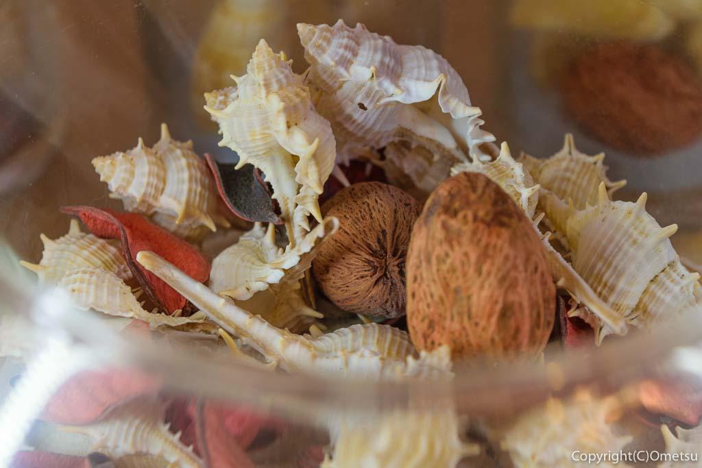 青梅・新町のイタリアンレストラン・パルファンの店内の、貝殻