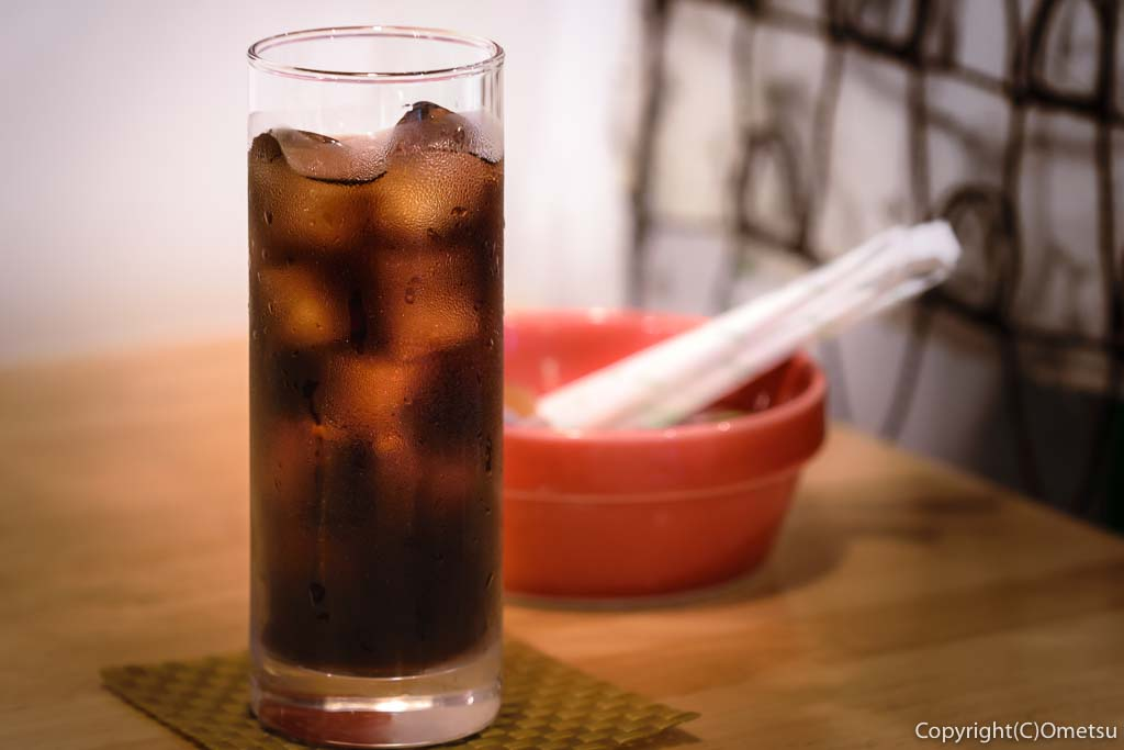 青梅市・河辺のカフェプラスの、水出しアイスコーヒー