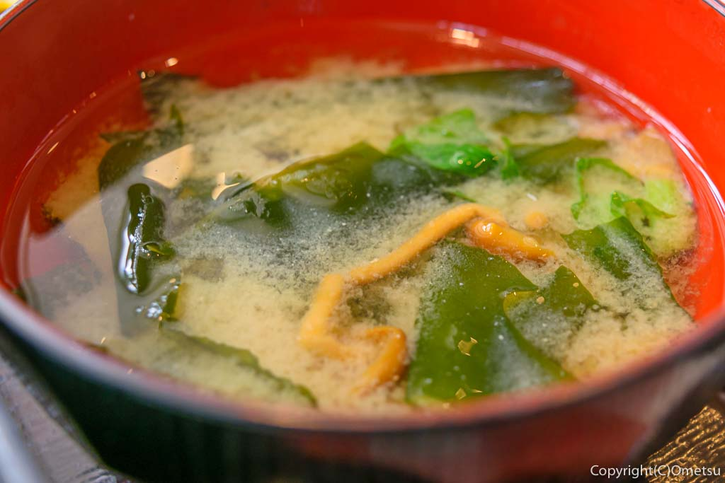 日の出町の、洋食DON・DONの味噌汁
