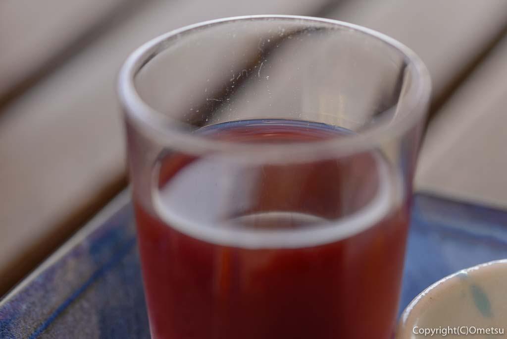 ジロー珈琲のモーニングセットの、ブドウジュース