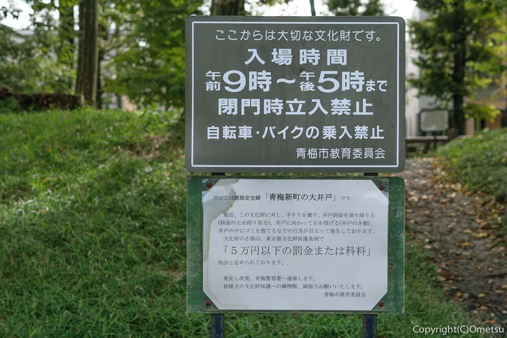青梅市・大井戸公園