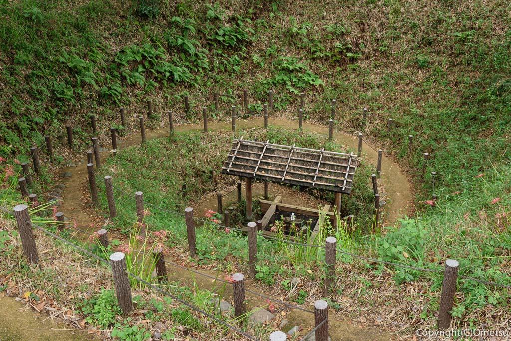 羽村市の、まいまいず井戸