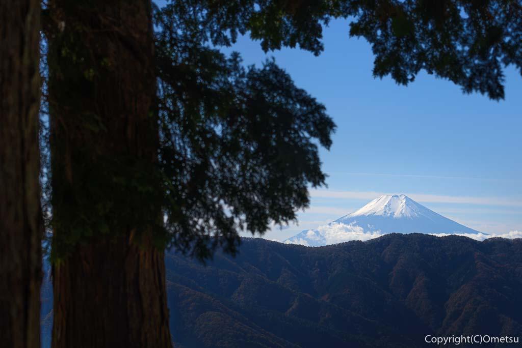 数馬峠からの富士山