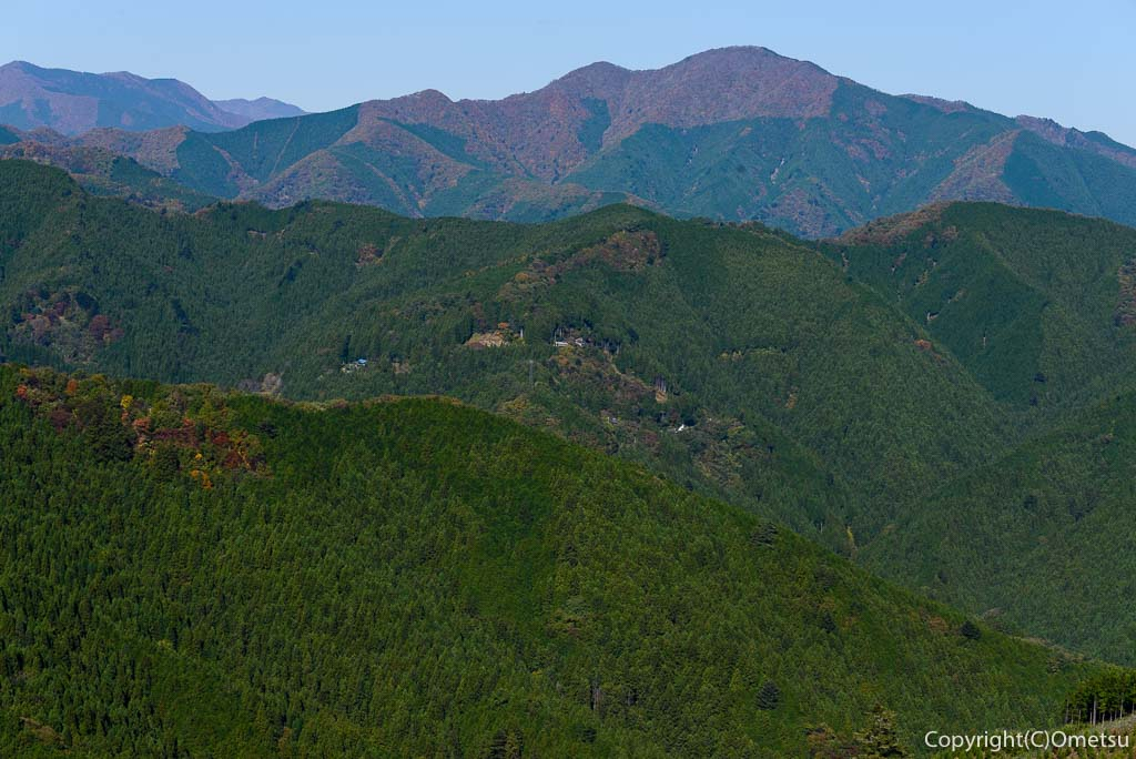 笛吹峠登山道から、大岳山