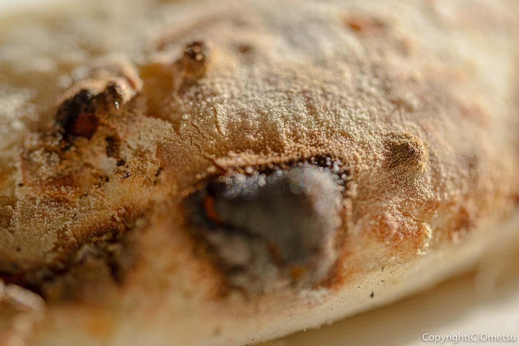 檜原村・笛吹の「たなごころ」のやっこピザの焦げ目