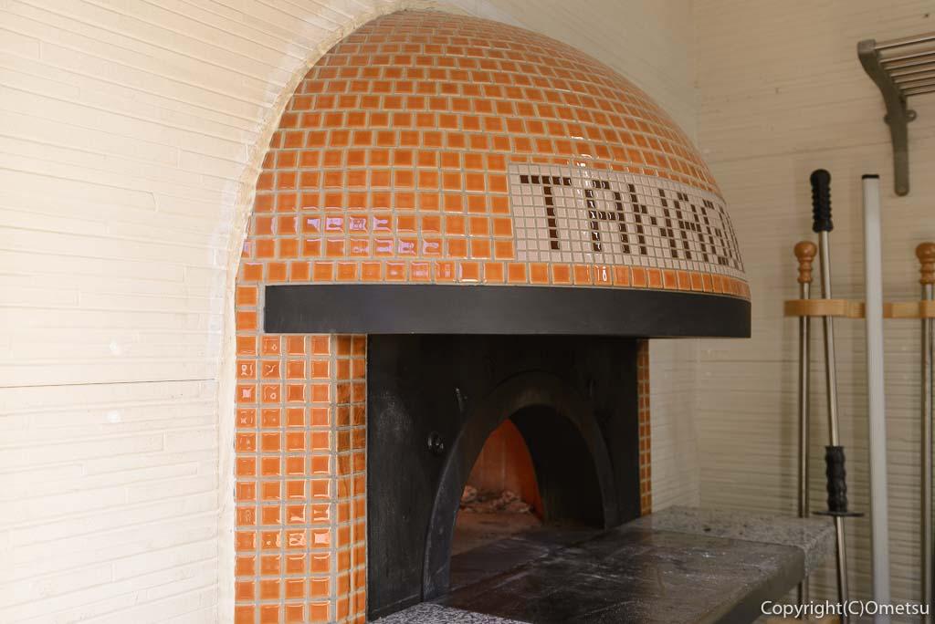 檜原村・笛吹の「たなごころ」の、ピザ窯