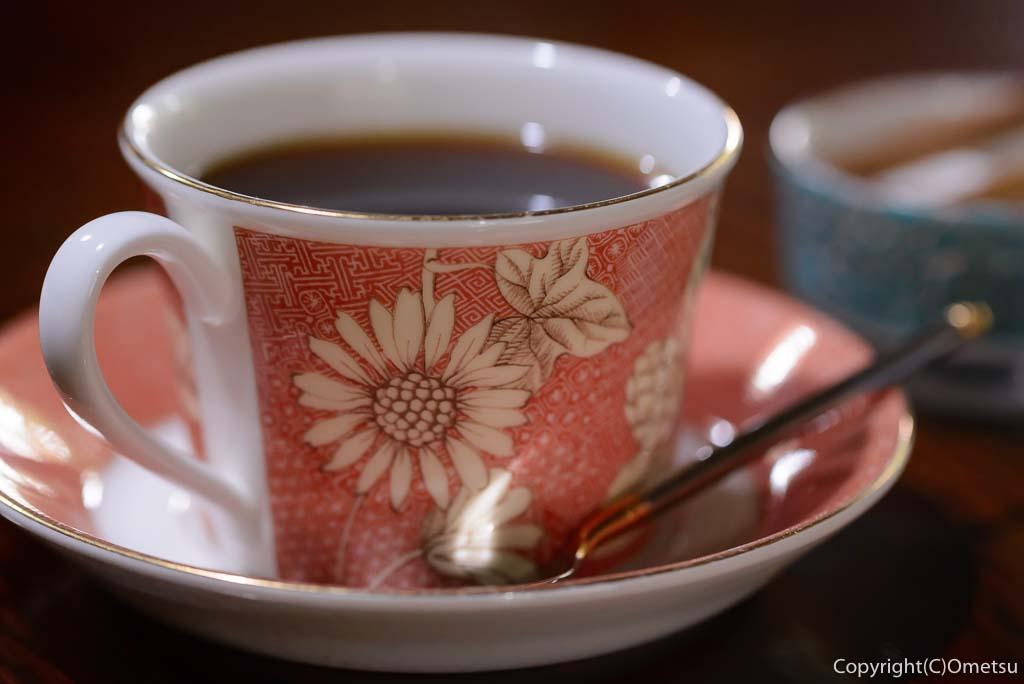 青梅市の、茶房ギャラリー木の花のコーヒー