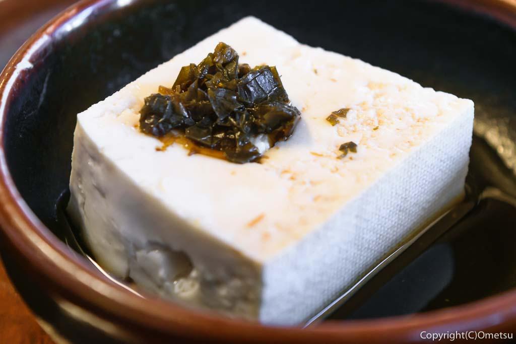 青梅市・河辺の幸泉のとんかつ定食の豆腐