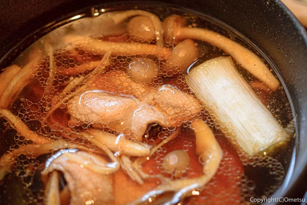 青梅・裏宿の蕎麦店、榎戸の肉汁